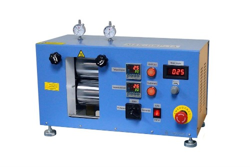 "200°C Max. 4"" Width Electric Hot Rolling Press w/ Variable Speed - ( Ar Gas Compatible) - MSK-HRP-1A"