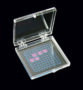 "One 55 mm x 55 mm (2.17""x2.17"") Gel Sticky Carrier Box -- Transparent - (SP1-5510T/T-LL-P33)"